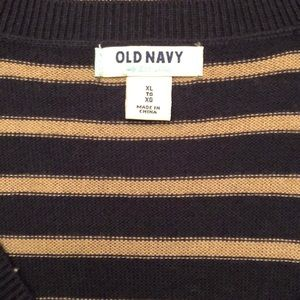 Old Navy Dresses - Navy & Tan Sweater Dress- Old Navy, XL, NWT